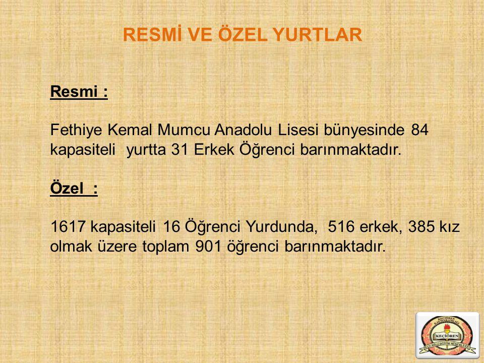 RESMİ VE ÖZEL YURTLAR Resmi :