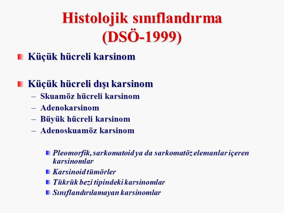 Histolojik sınıflandırma (DSÖ-1999)