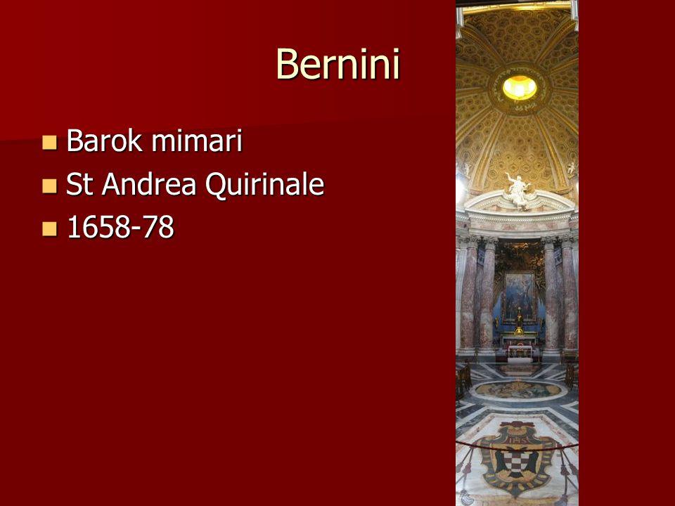 Bernini Barok mimari St Andrea Quirinale 1658-78