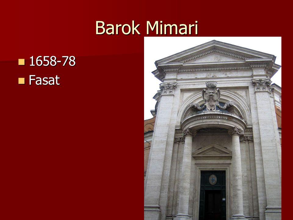 Barok Mimari 1658-78 Fasat