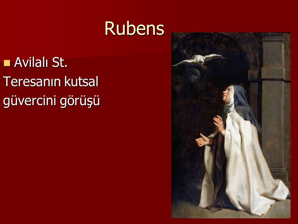 Rubens Avilalı St. Teresanın kutsal güvercini görüşü