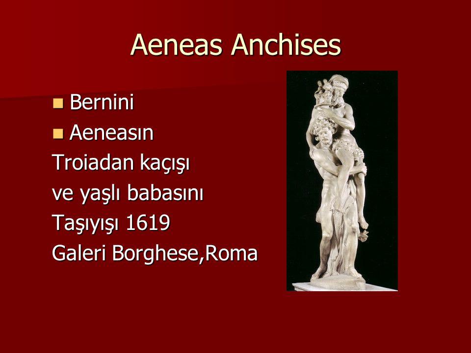 Aeneas Anchises Bernini Aeneasın Troiadan kaçışı ve yaşlı babasını