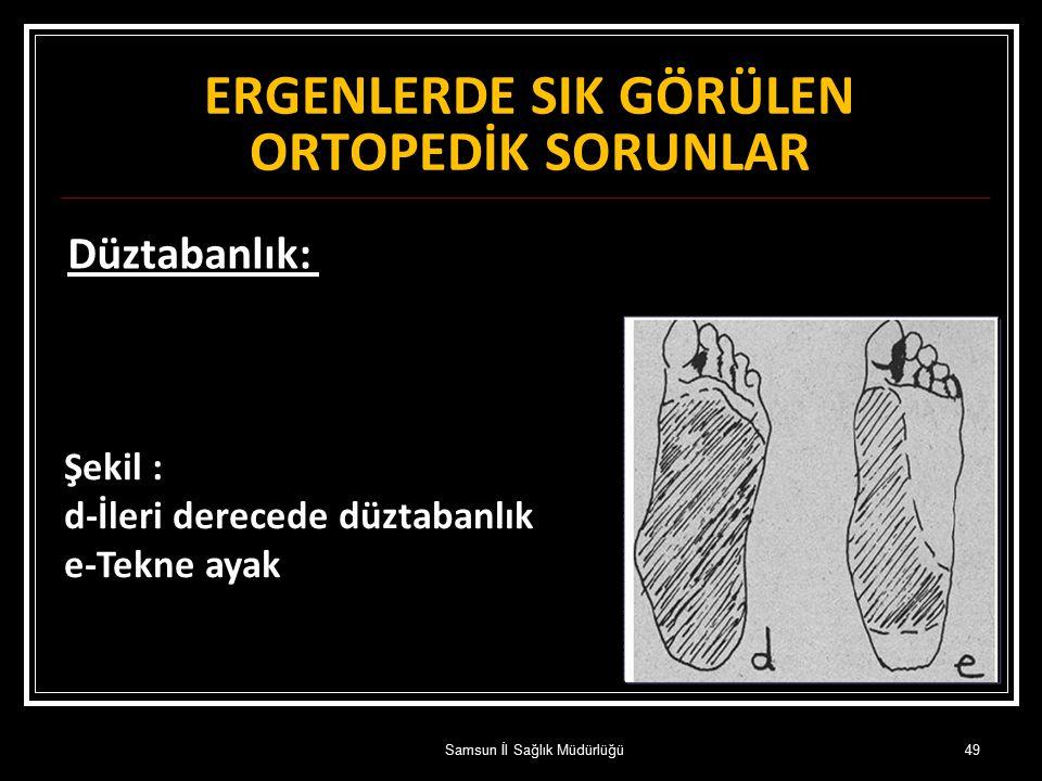 ERGENLERDE SIK GÖRÜLEN ORTOPEDİK SORUNLAR