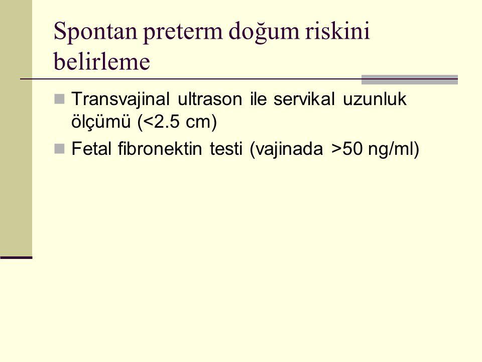 Spontan preterm doğum riskini belirleme