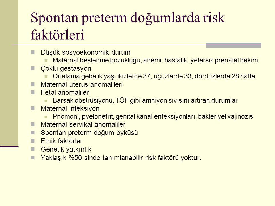 Spontan preterm doğumlarda risk faktörleri