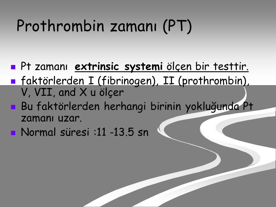 Prothrombin zamanı (PT)