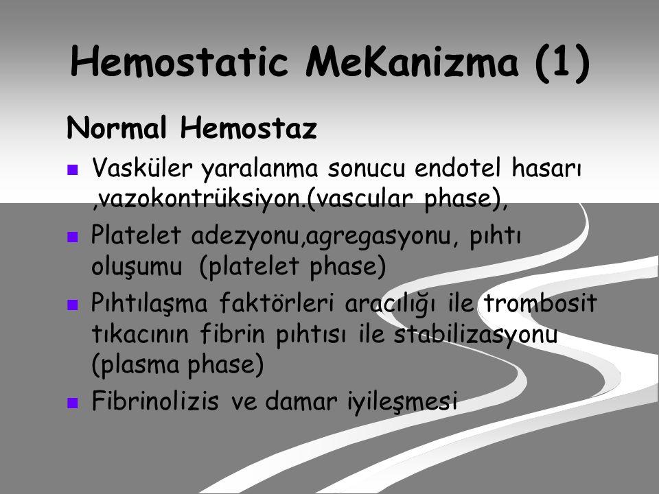 Hemostatic MeKanizma (1)