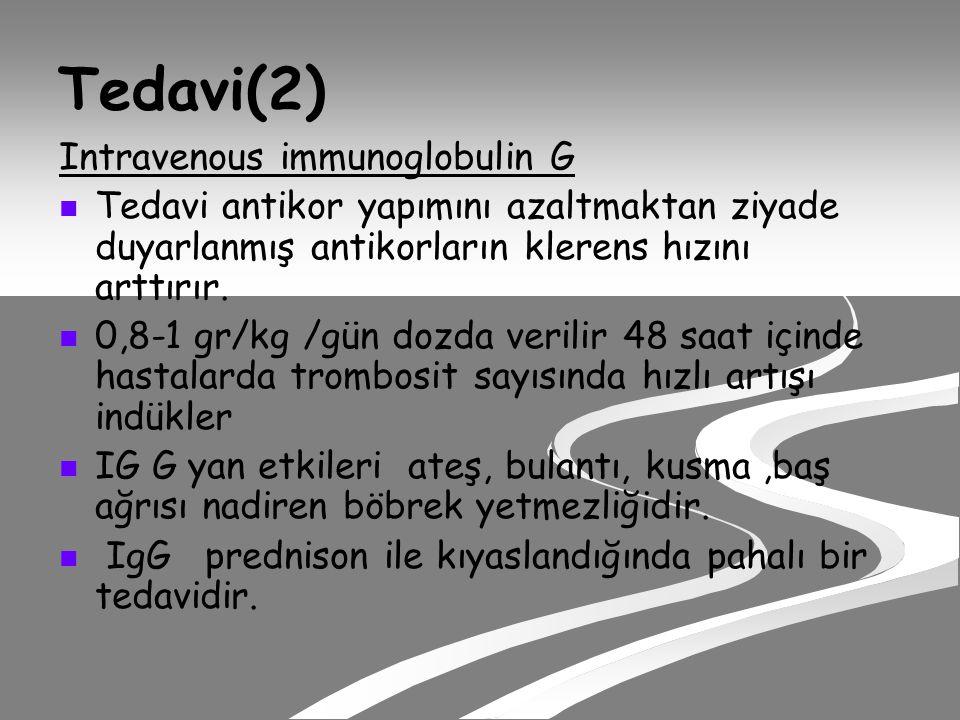 Tedavi(2) Intravenous immunoglobulin G