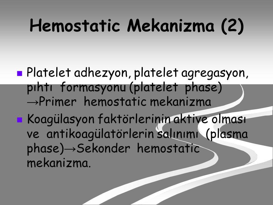 Hemostatic Mekanizma (2)