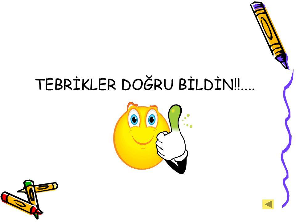 TEBRİKLER DOĞRU BİLDİN!!....