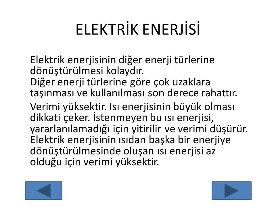 ELEKTRİK ENERJİSİ