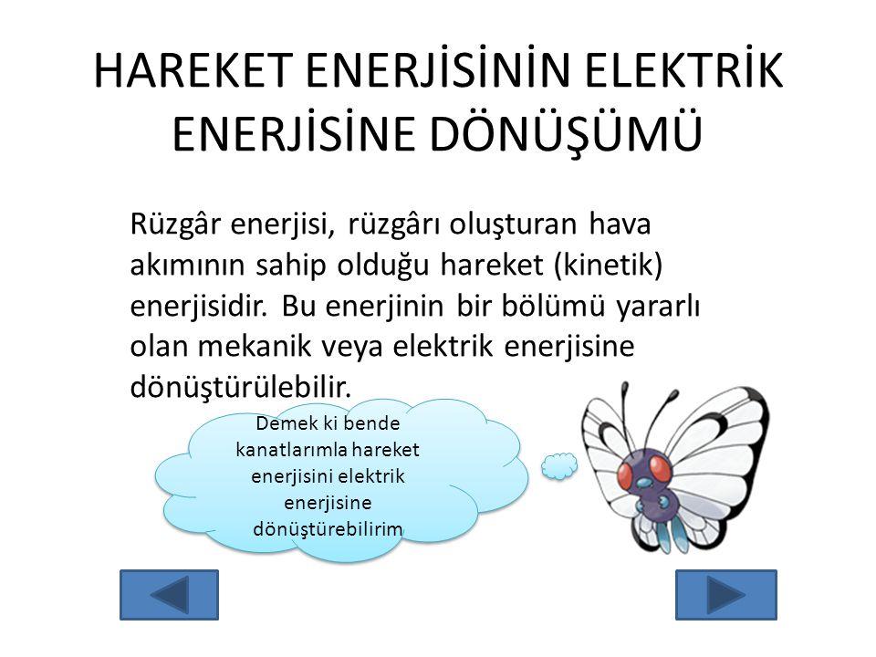HAREKET ENERJİSİNİN ELEKTRİK ENERJİSİNE DÖNÜŞÜMÜ