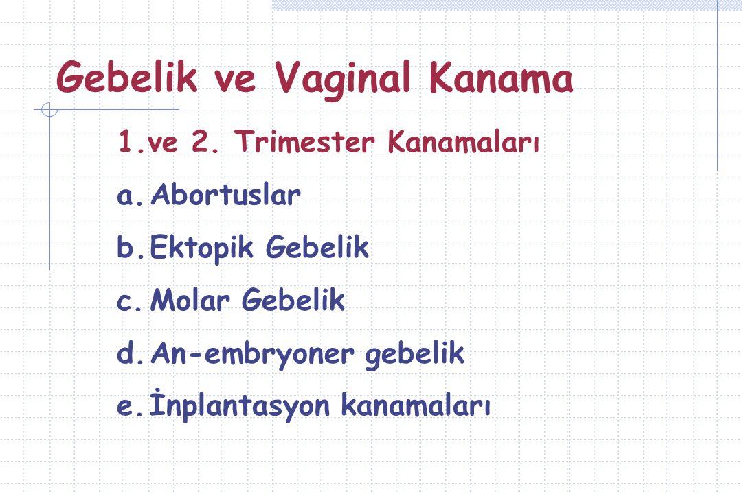 Gebelik ve Vaginal Kanama