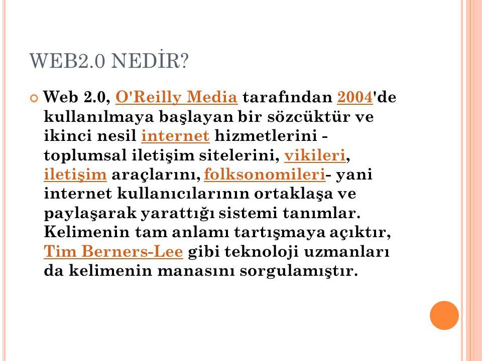 WEB2.0 NEDİR