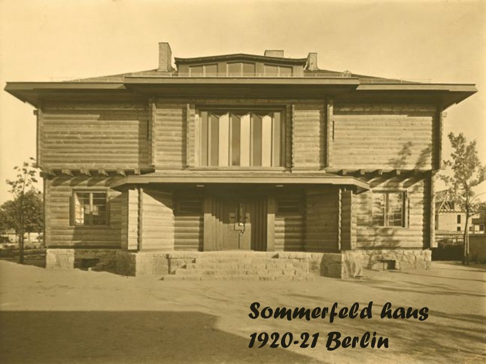 Sommerfeld haus 1920-21 Berlin