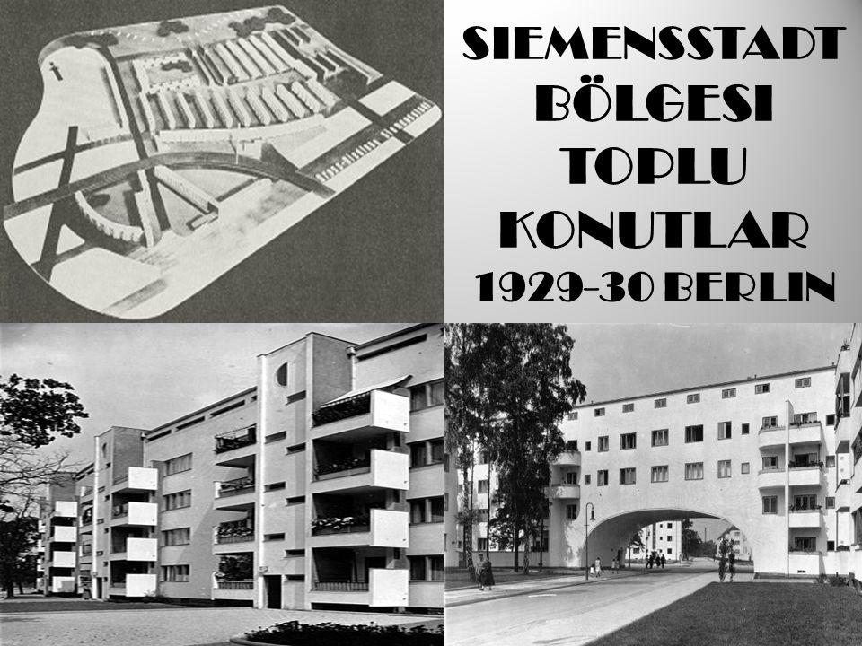 SIEMENSSTADT BÖLGESI TOPLU KONUTLAR 1929-30 BERLIN