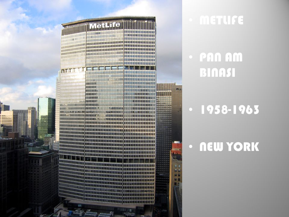 METLIFE PAN AM BINASI 1958-1963 NEW YORK