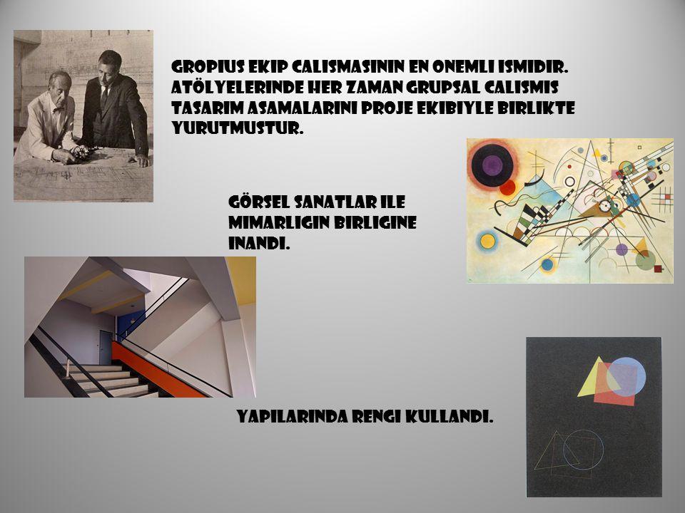 Gropius ekıp calısmasının en onemlı ısmıdır