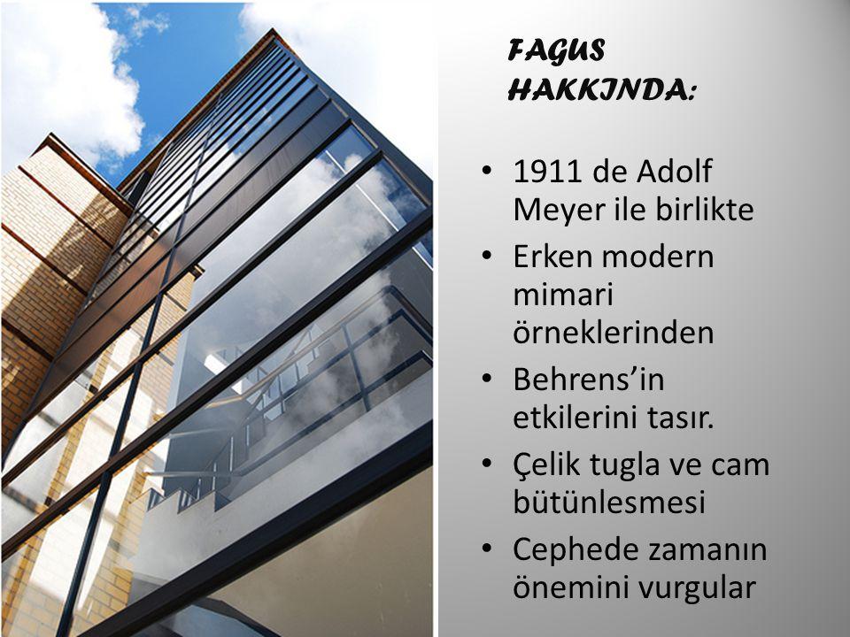 1911 de Adolf Meyer ile birlikte Erken modern mimari örneklerinden