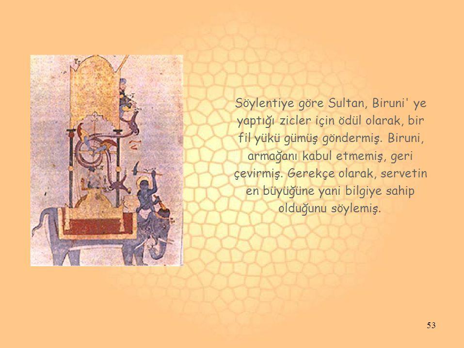 Söylentiye göre Sultan, Biruni ye