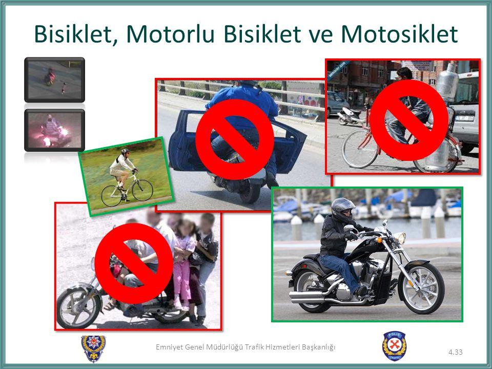 Bisiklet, Motorlu Bisiklet ve Motosiklet