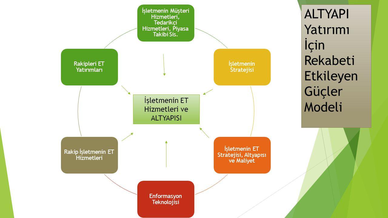 ALTYAPI Yatırımı İçin Rekabeti Etkileyen Güçler Modeli