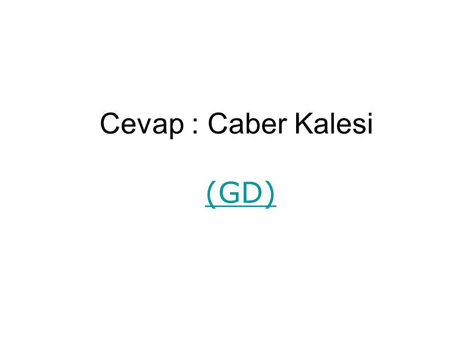 Cevap : Caber Kalesi (GD)