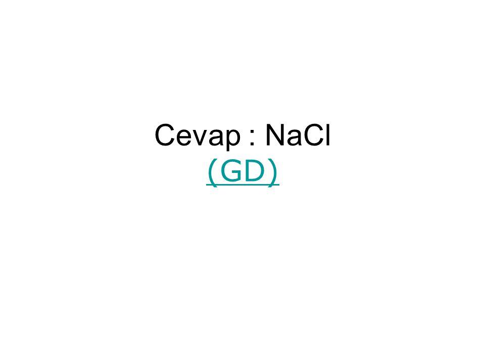 Cevap : NaCl (GD)