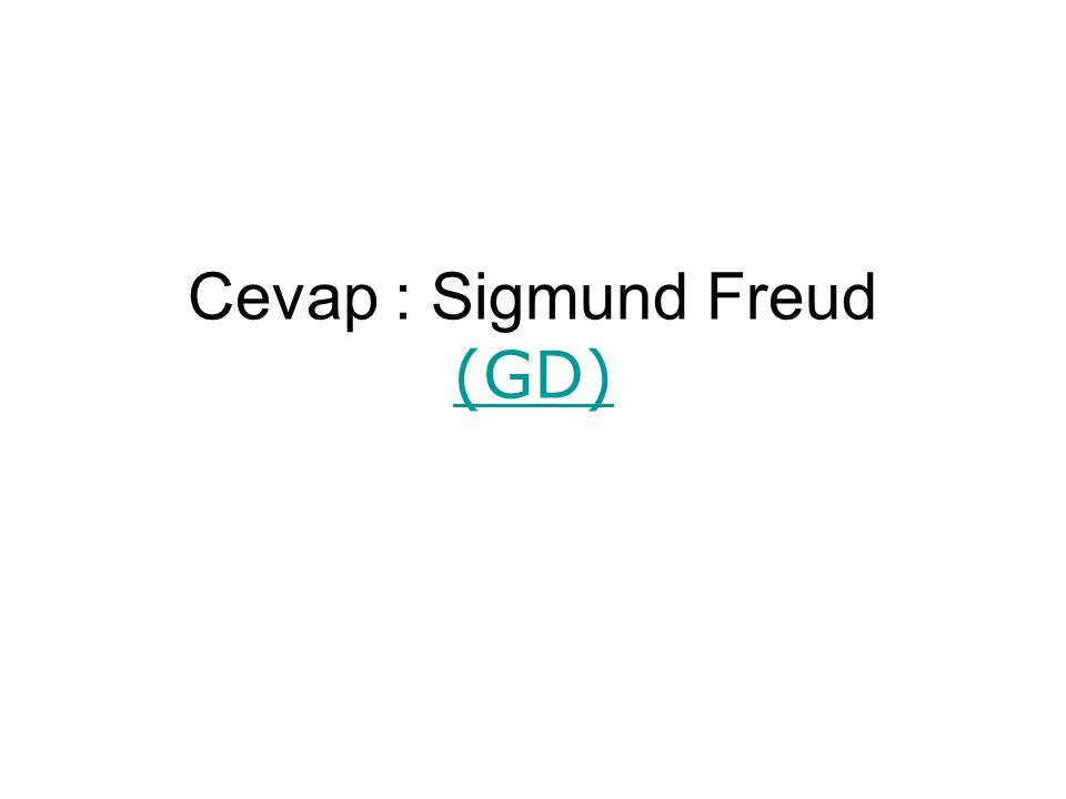 Cevap : Sigmund Freud (GD)