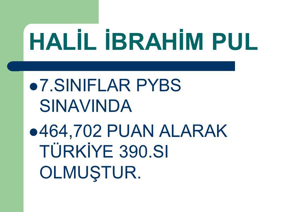 HALİL İBRAHİM PUL 7.SINIFLAR PYBS SINAVINDA