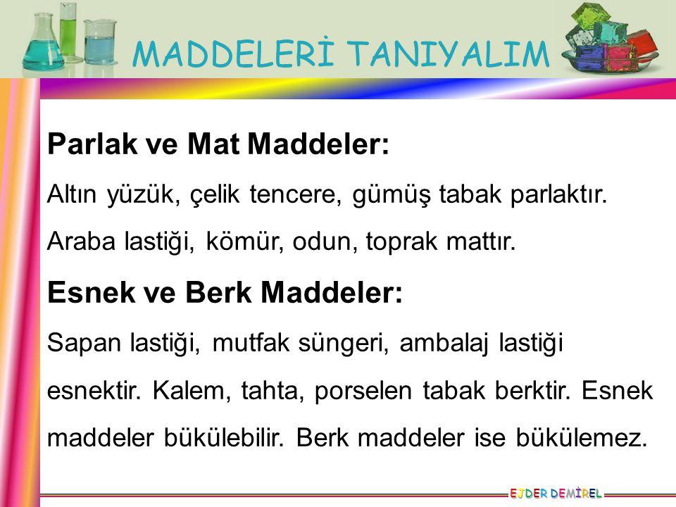 Parlak ve Mat Maddeler: