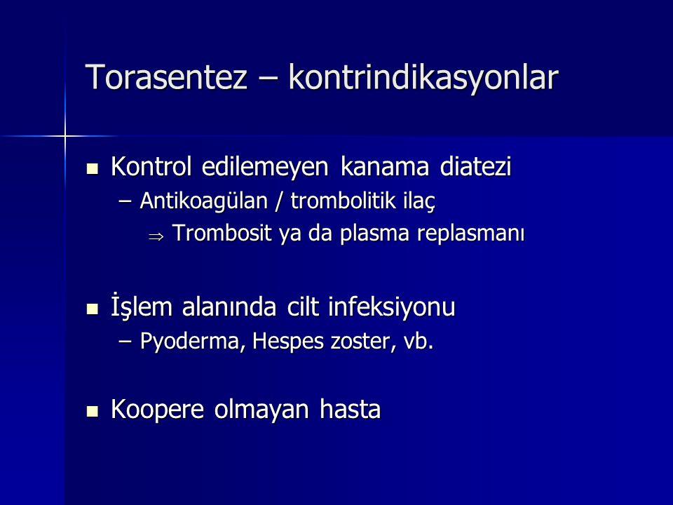 Torasentez – kontrindikasyonlar