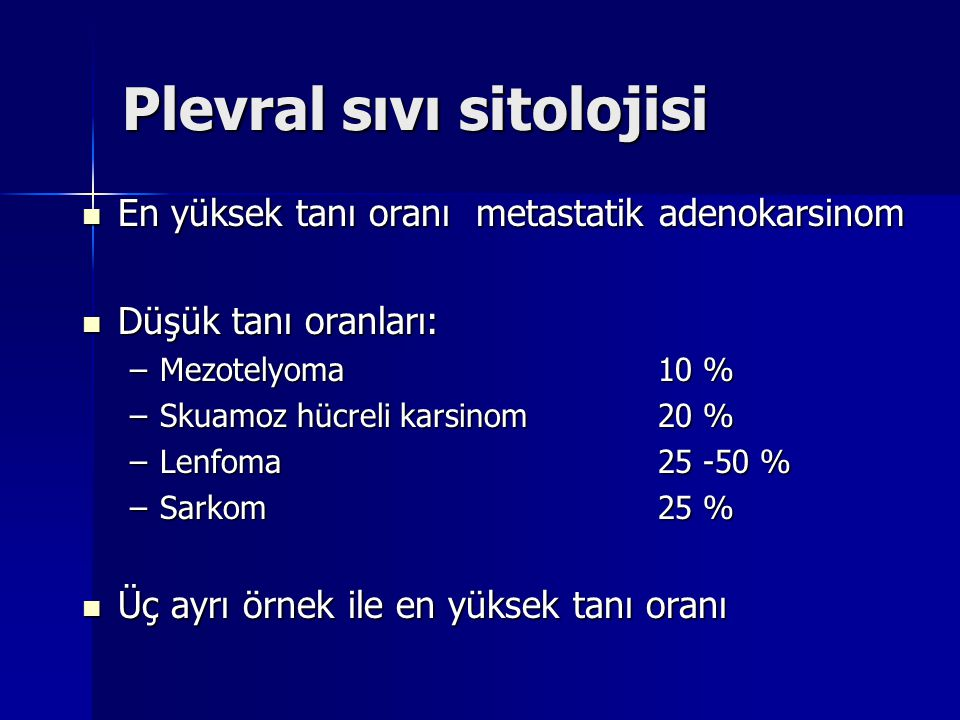 Plevral sıvı sitolojisi