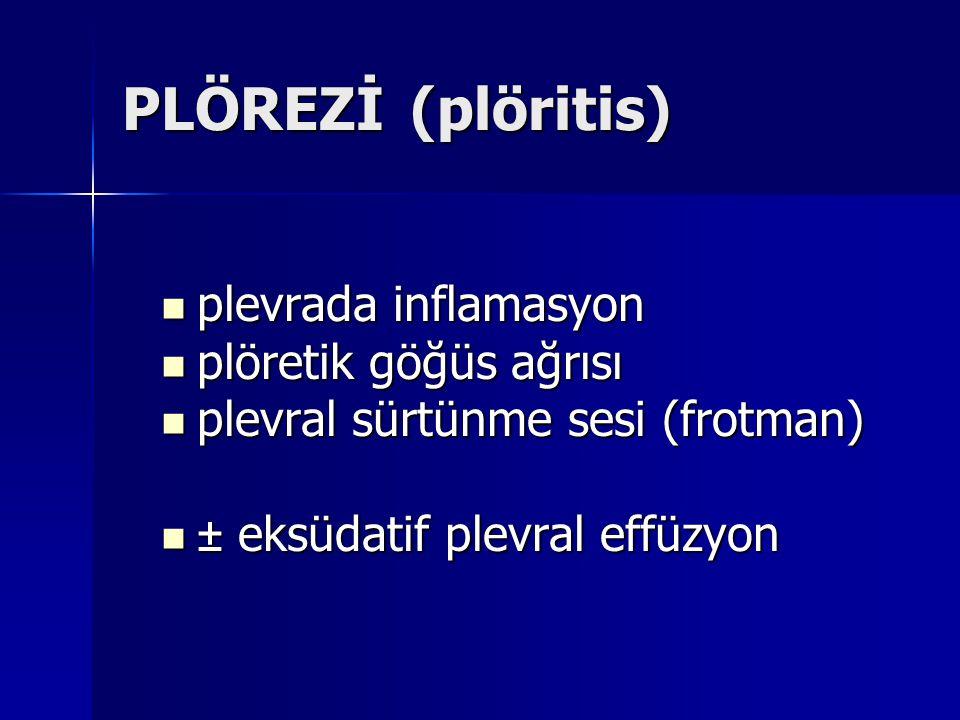 PLÖREZİ (plöritis) plevrada inflamasyon plöretik göğüs ağrısı