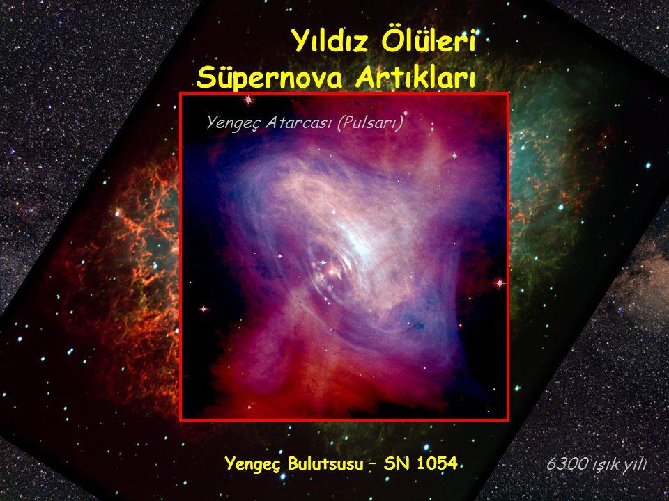 Yıldız Ölüleri Süpernova Artıkları Yengeç Atarcası (Pulsarı)