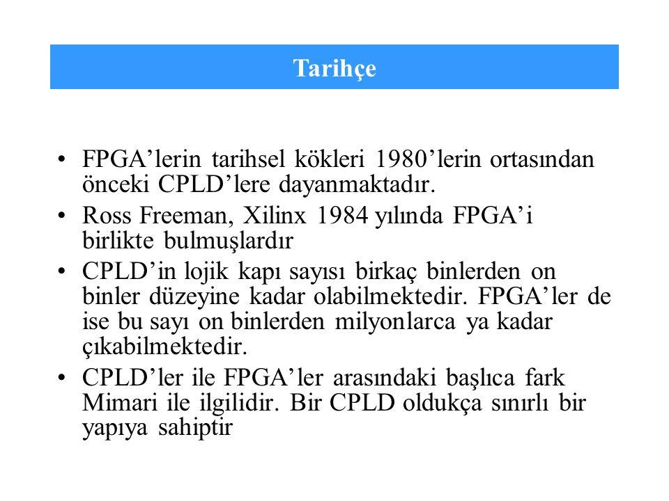 Tarihçe FPGA'lerin tarihsel kökleri 1980'lerin ortasından önceki CPLD'lere dayanmaktadır.