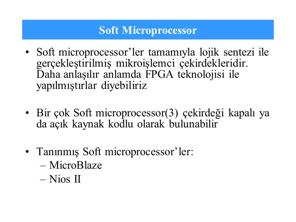 Soft Microprocessor