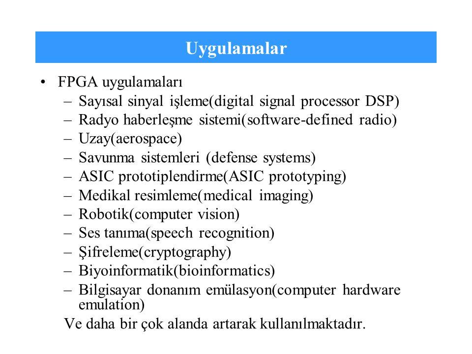 Uygulamalar FPGA uygulamaları