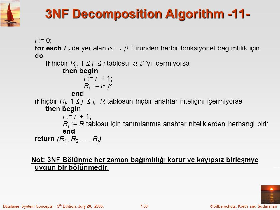 3NF Decomposition Algorithm -11-