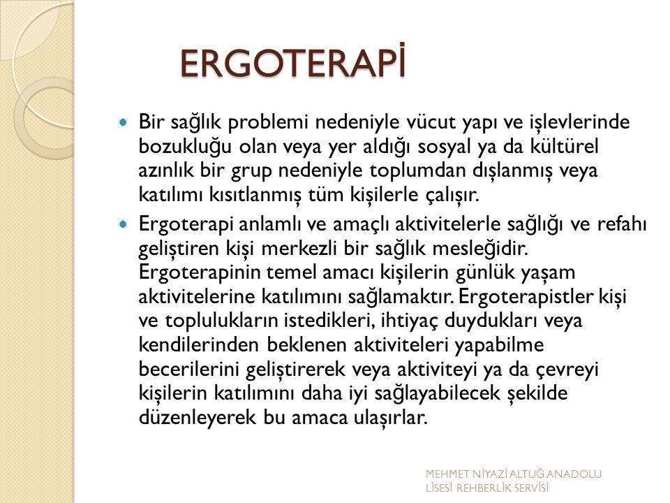 ERGOTERAPİ