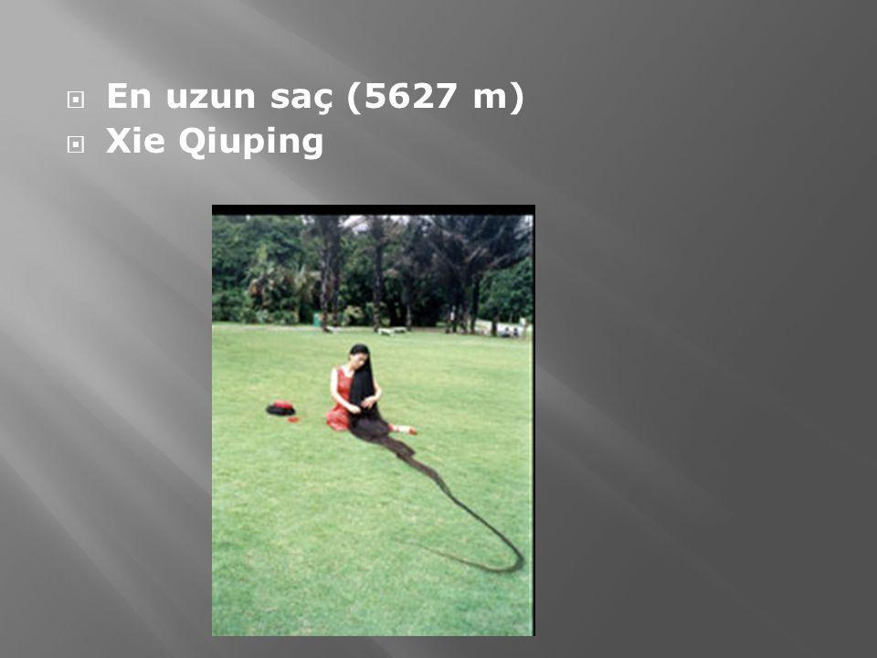 En uzun saç (5627 m) Xie Qiuping