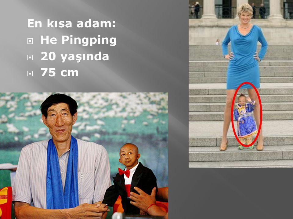 En kısa adam: He Pingping 20 yaşında 75 cm