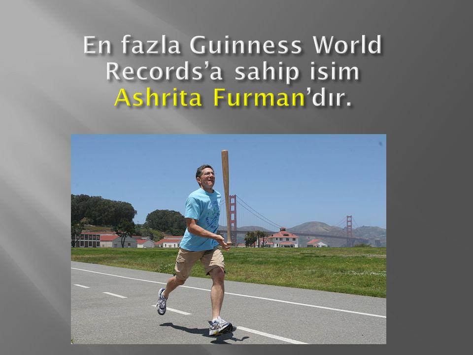 En fazla Guinness World Records'a sahip isim Ashrita Furman'dır.