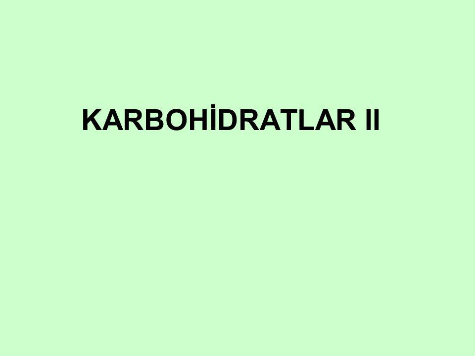 KARBOHİDRATLAR II