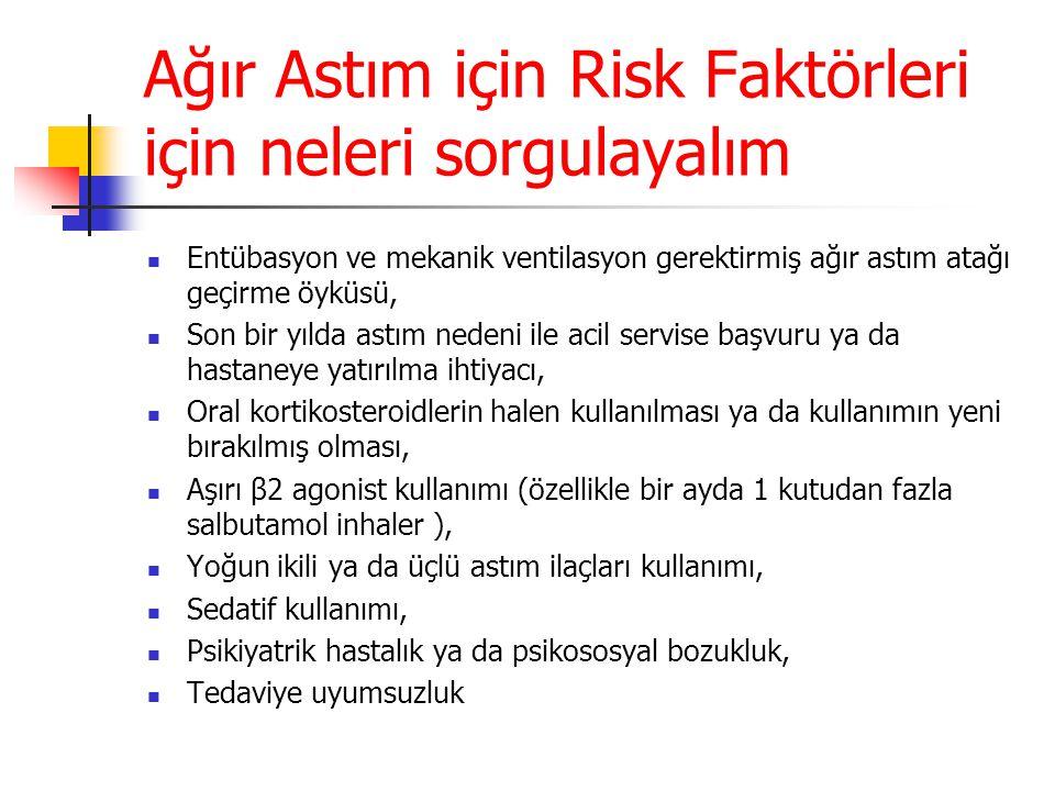 Ağır Astım için Risk Faktörleri için neleri sorgulayalım