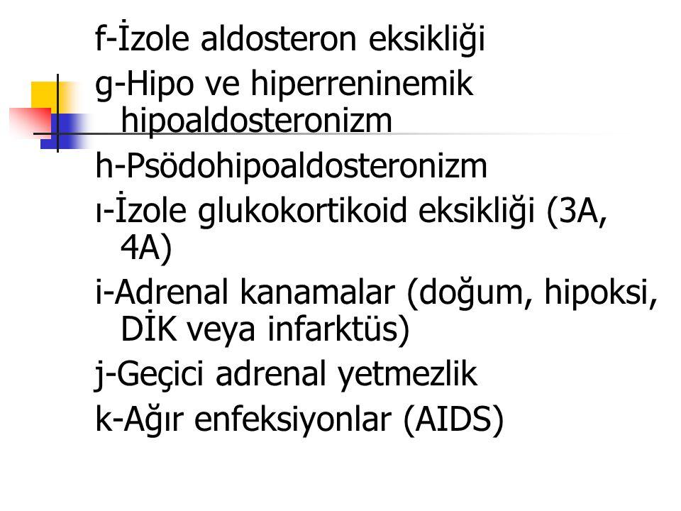 f-İzole aldosteron eksikliği