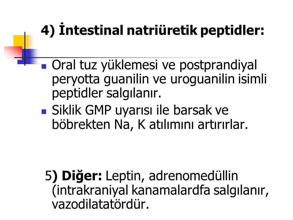 4) İntestinal natriüretik peptidler: