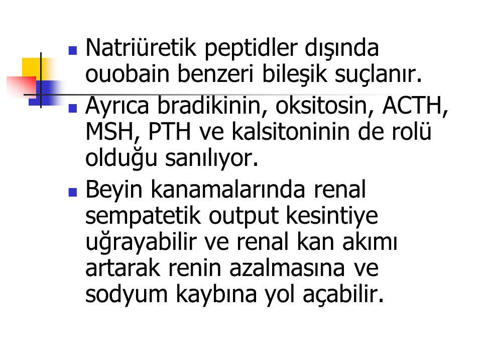 Natriüretik peptidler dışında ouobain benzeri bileşik suçlanır.