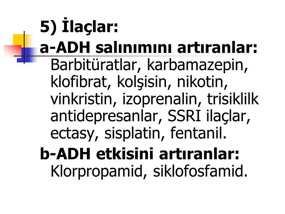 5) İlaçlar: