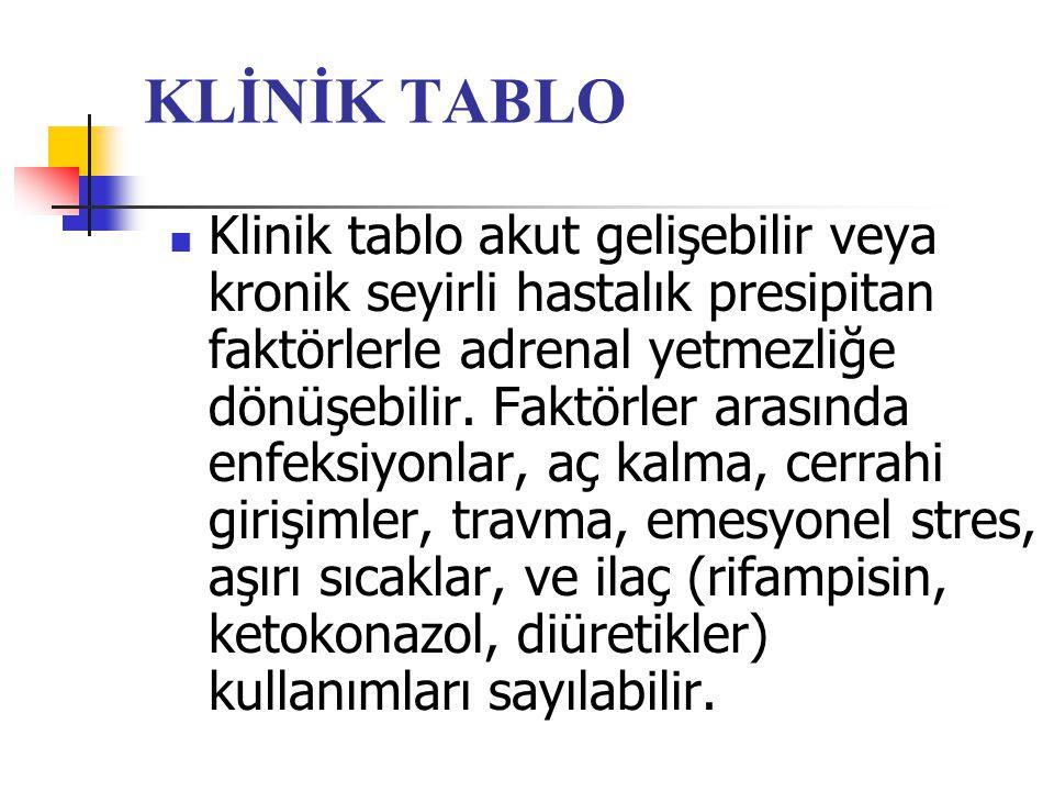KLİNİK TABLO